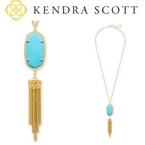 Kendra Scott Rayne Gold Pendant Necklace Turquoise